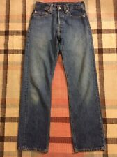 Vintage Levi's 501 Button Fly Denim Blue Jeans Boyfriend 28X32!!!