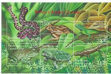 Central African Republic - Reptiles, Snakes, Turtles, Frogs, 2001 - Sc 1394 MNH