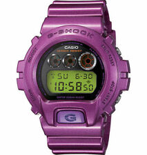Mens Casio G-Shock White Rubber Purple Chronograph Alarm Sport Watch GD120CS-6