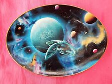 STAR TREK Space, The Final Frontier Plate Collection Oval Plate DISTANT WORLDS