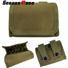 Tactical Molle PALS Shotgun Ammo Reload Pouch Holster Magazine Bag Carrier Tan