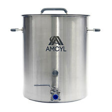Professional Grade 10 Gallon Stainless Steel Home Brew Kettle - Accessory Port