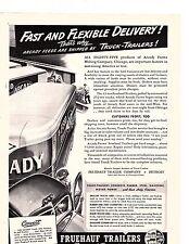 1942 Fruehauf Truck Trailers delivery trucks Vintage Trade ad