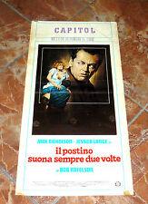 JACK NICHOLSON I^EDITION ITALY 1981 LOCANDINA IL POSTINO SUONA SEMPRE DUE VOLTE