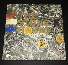 The Stone Roses Ian Brown Mani Squire Hand Signed Debut Album Vinyl Rare!