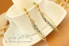 Antique Style 18K GOLD Filled Filigree Vintage Stud Earrings SWAROVSKI CRYSTAL