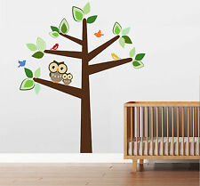 6 FT  Large Tree with 2 OWLS and Birds Wall Decal Sticker Mural by Digiflare