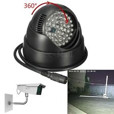 360° Waterproof 48 LED Illuminator Night Vision Light CCTV IR Infrared Lamp Home