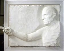Bill Mack PICASSO Bonded Sand framed Hand Signed Sculpture Art L@@K! MAKE OFFER
