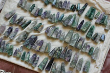 2.2LB 10 Pieces Natural green purple rainbow fluorite points healing Wholesales