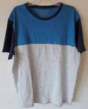AE American Eagle Outfitters Mens XXL 2X Blue Gray Crew Tee Shirt Cotton New