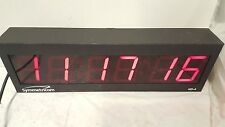 Symmetricom ND-4 NTP Internet Synchronized Red LED Atomic Wall Clock