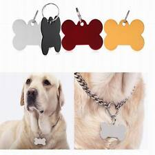 New Custom Personalized Dog Tag Cat Tag Pet ID Name Tag with Ring 1pc