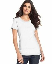 NWT Style&co. Sport Women's White 100% Cotton Short Sleeve Top Size: XL