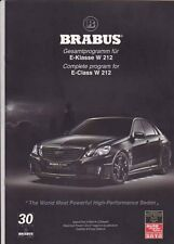 2010 BRABUS V12 based MERCEDES BENZ E-CLASS W212 Malaysian Brochure in English