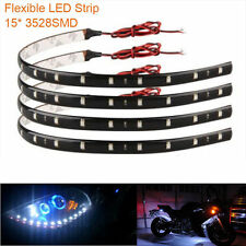 4x White Waterproof 15 LED 12V 30cm Car Motor Vehicle Decro Flexible Strip Light