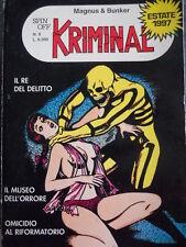 KRIMINAL n°6 1997 edizione SPIN OFF comprende i numeri 1-3-5 del 1964  [G326]