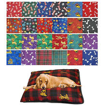 LARGE PET DOG BED MAT ZIPPED REMOVABLE WASHABLE PROTECTIVE CUSHION COVER ONLY