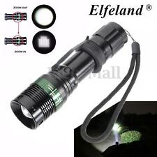 Elfeland 6000LM Zoomable T6 LED Flashlight Torch Super Bright Light Lamp