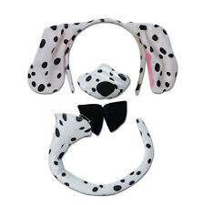 DALMATIAN SET EARS NOSE WITH SOUND TAIL BOW TIE FANCY DRESS