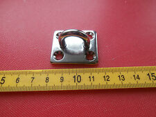 5mm Stainless Staple on 35mm x 30mm Square Base Plate.Ring Eye plate. Eyeplate
