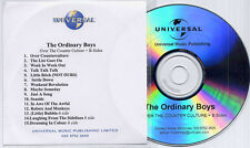 ORDINARY BOYS Over The Counter Culture + B-Sides 15-trk promo publishing CD