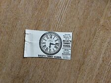 m7-1 ephemera 1900 advert bailey's turret clocks w h bailey & co