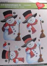 A4 3D Paper Tole Christmas Snowman 1 Large picture NEW  more in my store