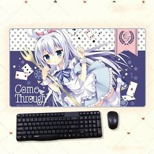 Anime Is The Order A Rabbit Kafuu Chino Thicken Playmat Extra Large Mousepad Mat