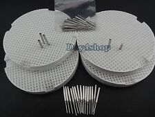 4 Dental Lab Honeycomb Firing Trays w/ 40 metal Pins For Sale