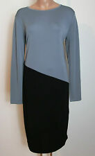 DKNY ~egg-Shape Kleid color blocking in schwarz chrom ~NEU Gr 40/42 L H126