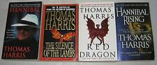 THOMAS HARRIS lot of 4 PBs HANNIBAL LECTER 1-4 SILENCE OF THE LAMBS More