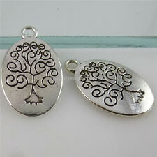 12497 20PCS Vintage Silver Tone Vitality Tree of Life Plants Tree Pendant Charms