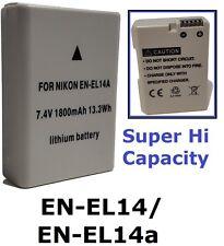 New Hi-Capacity EN-EL14a Lithium Ion Battery for Nikon EN-EL14 D5500 D5300