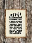 Man Cave Rules #2 ~ Wall or Window Decal