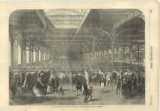 1856 Paris Agricultural Exhibition Cattle Stalls Palace Of Industry