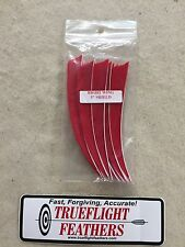 Trueflight 5 inch Feathers Right Wing Shield Cut Dozen Pack Red