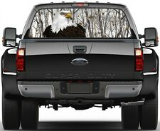 Camo Snow Storm Bold Eagel Rear Window Graphic Decal for Truck SUV Vans Ver 2