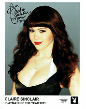 "Claire Sinclair Signed 8""x10"" Photo - Playboy PMOY 2011 #25"