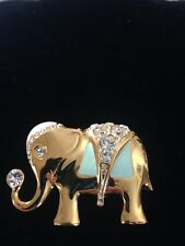 GORGEOUS GOLD AND ENAMEL ELEPHANT PIN/BROOCH/PENDANT
