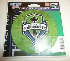 "Seattle Sounders FC Die Cut Magnet Indoor Outdoors 4""x4"" MLS Soccer Fridge Car"