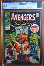 AVENGERS #54 CGC 4.5 OW PAGES // 1ST APP NEW MASTERS OF EVIL / ULTRON CAMEO