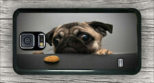 DOG PUG GREEDY COOKIE CASE COVER FOR SAMSUNG GALAXY S5 -n46j