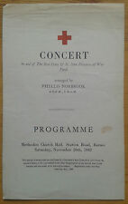 Concert is aid of the Red Cross programme Barnes Phyllis Norbrook 28/11/1942