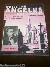 Partitura Original-mientras el Angelus estaba sonando-sostiene Fredric Cooper