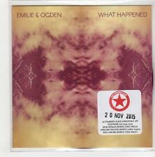 (GN812) Emilie & Ogden, What Happened - 2015 DJ CD