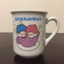 Vintage 1980s Sanrio Little Twin Stars Ceramic Coffee Mug Cup 1984 Made In Japan