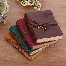 HOT Pretty Retro Classic Vintage Leather Bound Blank Page Journal Diary Notebook