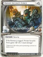 Android Netrunner LCG - 1x Private Security Force #107 - System Crash Draft Star