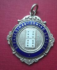 Silver & Enamel Dominoes Fob Medal 1946 St. Paul's Domino League  -  Queens Head